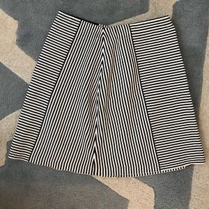 Theory Striped Knit Skirt